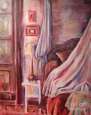 Bedside Lamp Art Print by Ellen Howell