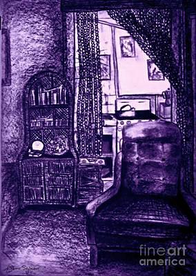 Mixed Media - Bedsit Refuge In Purple by Leanne Seymour
