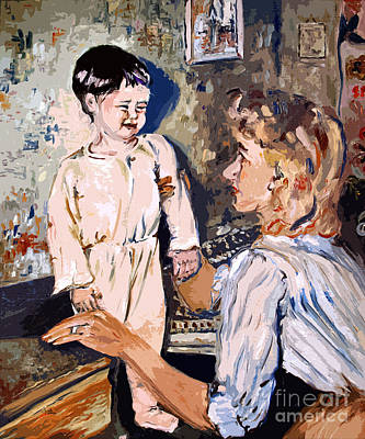 Painting - Bedtime Ginette Self Portrait As Child by Ginette Callaway