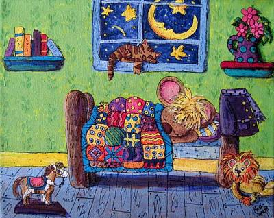 Bedtime Mouse Art Print by Megan Walsh