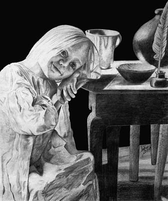 Drawing - Bedtime by Sophia Schmierer