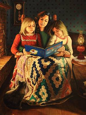 Art Print featuring the painting Bedtime Stories by Glenn Beasley