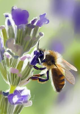 Flowers Scent Digital Art - Bee by Arie Van der Wijst