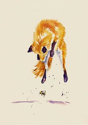 Vixen Painting - Bee Brave by Debra Hall