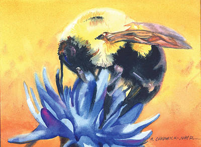 Painting - Bee Cause I by Marguerite Chadwick-Juner