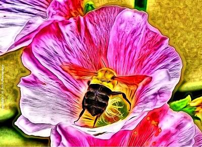 Art Print featuring the photograph Bee Here In Colour by Al Fritz