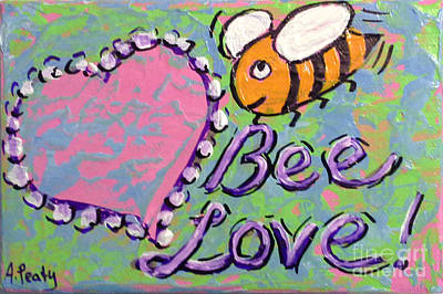 Painting - Bee Love 2 by Audrey Peaty
