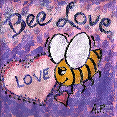 Painting - Bee Love by Audrey Peaty