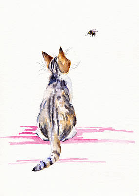Painting - Bee-mused by Debra Hall