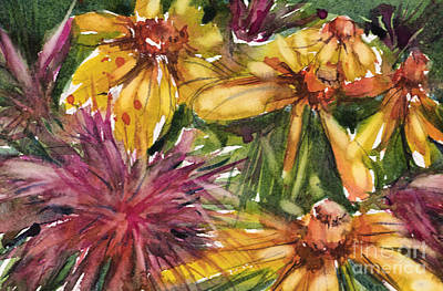 Painting - Beebalm And Heliopsis by Judith Levins