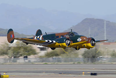 Beechcraft Photograph - Beech D-18s N70ga Bucket Of Bolts Deer Valley Airport March 7 2013 by Brian Lockett