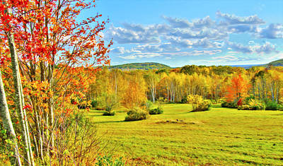 Maine Mountains Digital Art - Beech Hill Fall Tranquil Moments by Gregory W Leary
