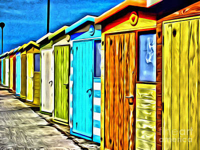 Shed Digital Art - Beech Huts by Paul Stevens