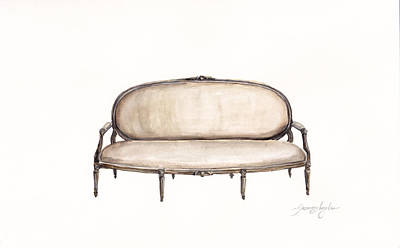 Painting - Beech Settee by Jazmin Angeles