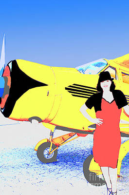 Barnstormer Photograph - Beechcraft And Vintage Fashion by Timothy OLeary