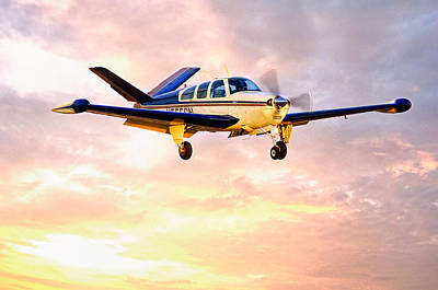 Beechcraft Bonanza Photograph - Beechcraft Bonanza by James David Phenicie