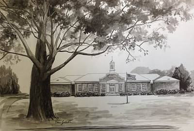 Drawing - Beechwood School Building by Edna Garrett