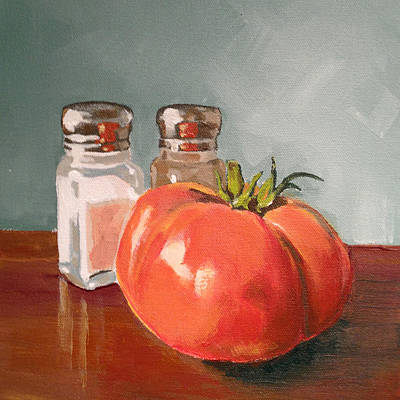Tomatos Painting - Beefmaster by Jeffrey Bess