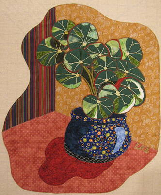 Still Life Tapestries Textiles Tapestry - Textile - Beefsteak Begonia by Lynda K Boardman