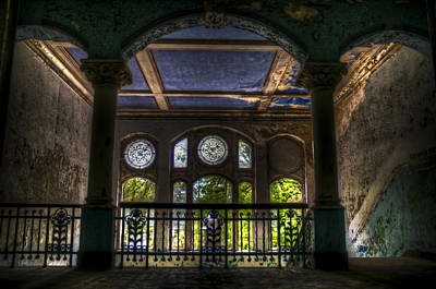 Creepy Digital Art - Beelitz Arches by Nathan Wright