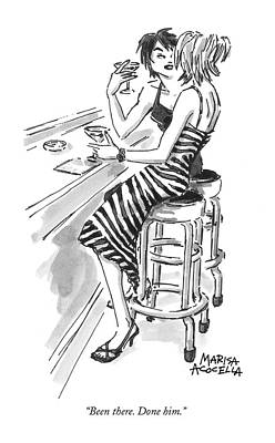 Cosmopolitan Drawing - Been There. Done Him by Marisa Acocella Marchetto