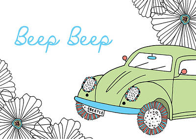 Photograph - Beep Beep Beetle by Susan Claire