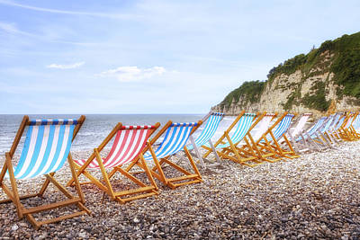 Bay Head Beach Photograph - Beer - Devon by Joana Kruse