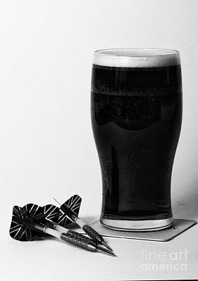 Frosty Mug Photograph - Beer And Darts by Paul Holman