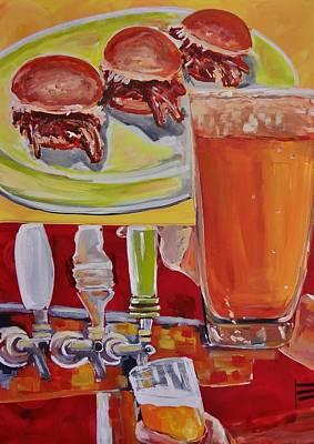 Slider Painting - Beer And Pork Sliders by Shannon Lee