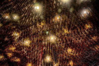 Photograph - Beer Bottle Light Fixture Hard Rock Cafe Nola Dsc06027 by Greg Kluempers