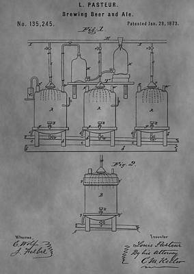 Hop Mixed Media - Beer Brewery Apparatus Patent by Dan Sproul