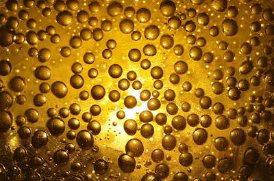 Photograph - Beer Bubbles Abstract by Patrick Dinneen