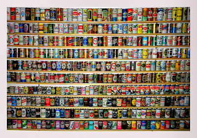 By Thomas Woolworth Photograph - Beer Can Collection by Thomas Woolworth