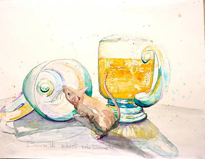 Painting - Beer It's What's For Dinner by Patricia Ragone