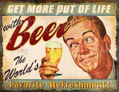Beer Art Print by JQ Licensing