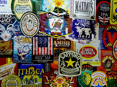 Photograph - Beer Labels by Richard Reeve