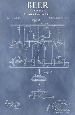 Hop Mixed Media - Beer Patent by Dan Sproul