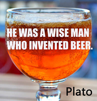 Photograph - Beer Quote By Plato by David Lee Thompson