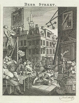 Hogarth Photograph - Beer Street by British Library