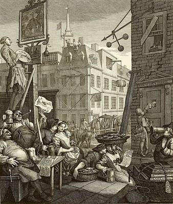 Hogarth Photograph - Beer Street By William Hogarth by National Library