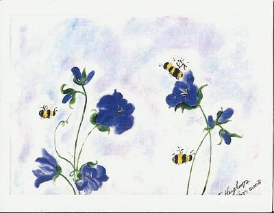 Pastel - Bees At Lunch Time by Francine Heykoop