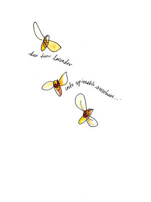 Painting - Bees Spin Sweetness by Anna Elkins