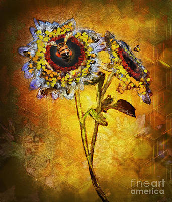 Digital Art - Bees To Honey by Lisa Redfern