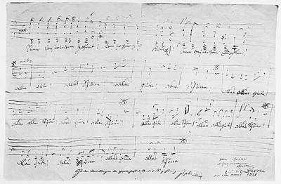 Music Score Painting - Beethoven Canon, 1820 by Granger