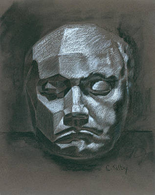 Beethoven Death Mask Art Print by Claudia Kilby