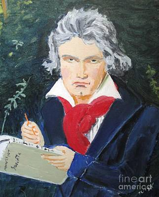 Art Print featuring the painting Beethoven by Judy Kay