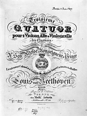 Beethoven Quartet, 1827 Art Print