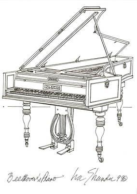 Beethoven's Broadwood Grand  Piano Art Print