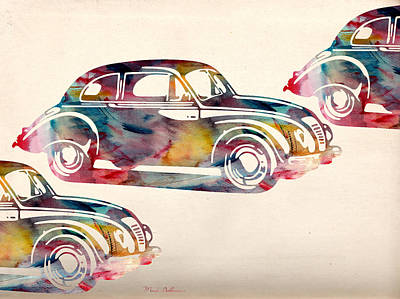 Beetle Digital Art - Beetle Car by Mark Ashkenazi