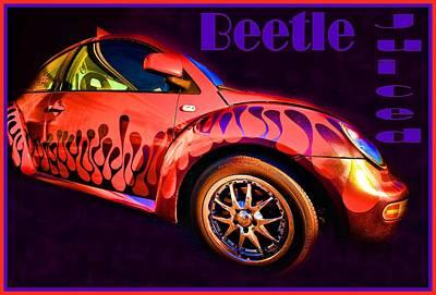 Op Art Mixed Media - Beetle Juiced by Robert McCubbin